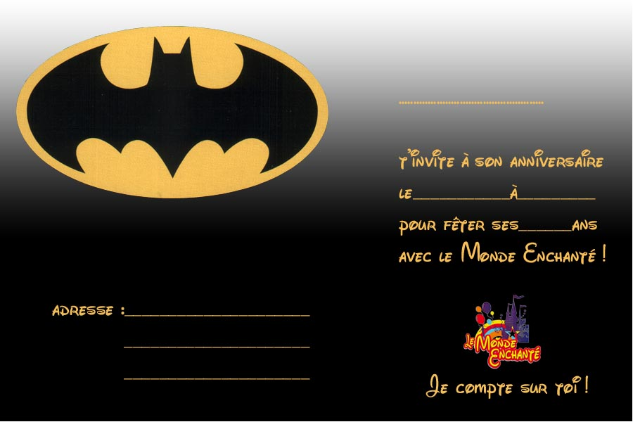 Invitation Batman