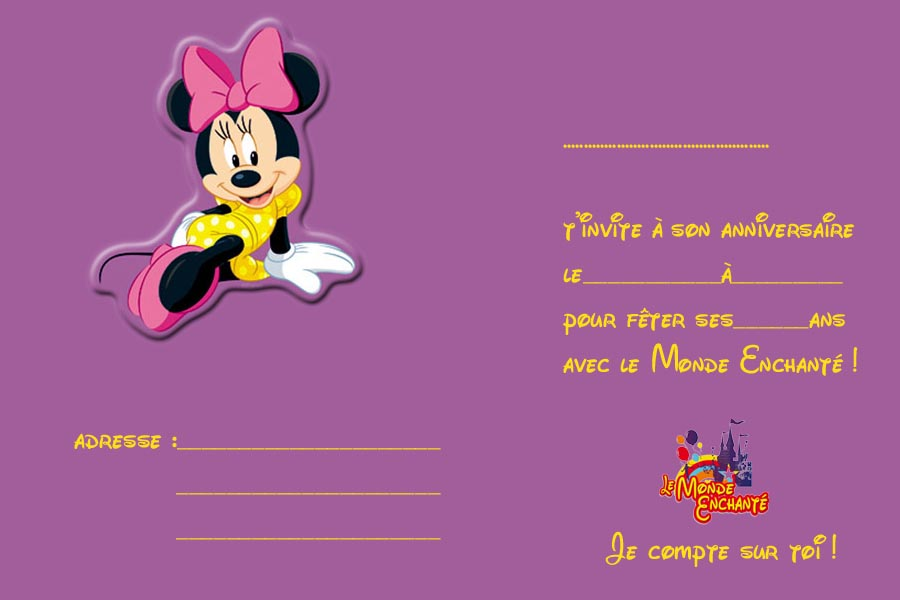 Invitation Minnie