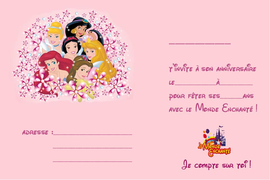 Invitation princesses